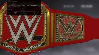 WWE 2K17: HOW TO MAKE WWE UNIVERSAL CHAMPIONSHIP