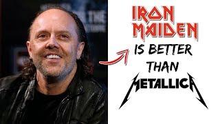 Lars Ulrich: Iron Maiden Is BETTER Than Metallica!