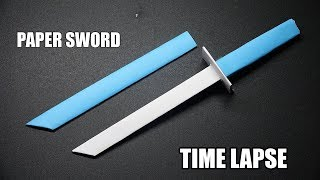 How to make a Paper Sword PART 6 | Easy Origami Tutorial | DIY Ninja Sword TIME LAPSE