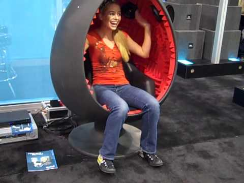 Sarah Austin In An Egg Chair With Built In Speakers   YouTube