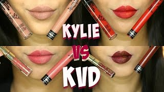 Kylie Cosmetics vs Kat Von D Liquid Lipsticks + Instagram Giveaway| Arzan Blogs