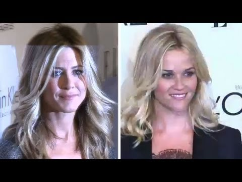 Jennifer Aniston and Reese Witherspoon at Elle Women in Hollywood Awards