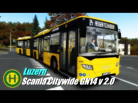 OMSI 2 Scania Citywide GN14 v 2.0 - Luzern Map