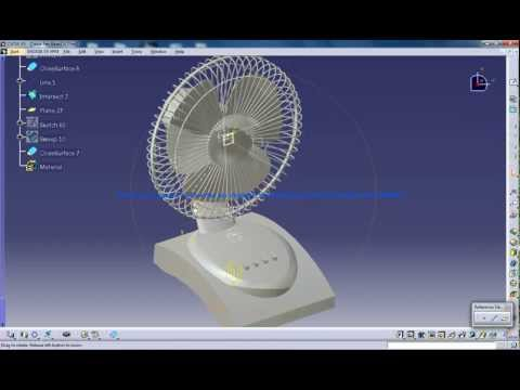 Catia V5 Tutorials|How to create a Table Fan Walkthrough|Product Design Engineering Beginner's