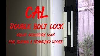 Installing CAL Double Bolt Lock on Sliding Patio Door