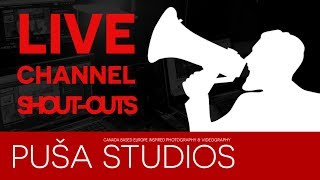 Promote Your YouTube Channel Here - Shoutout Night on Puša Studios