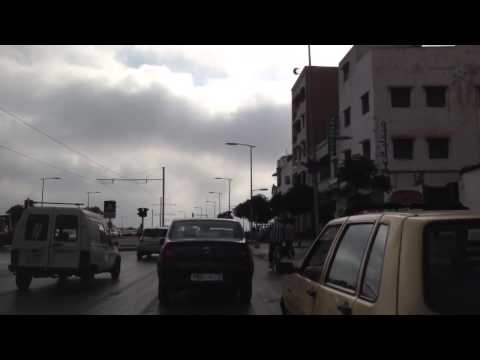 Driving in Rabat,Morocco
