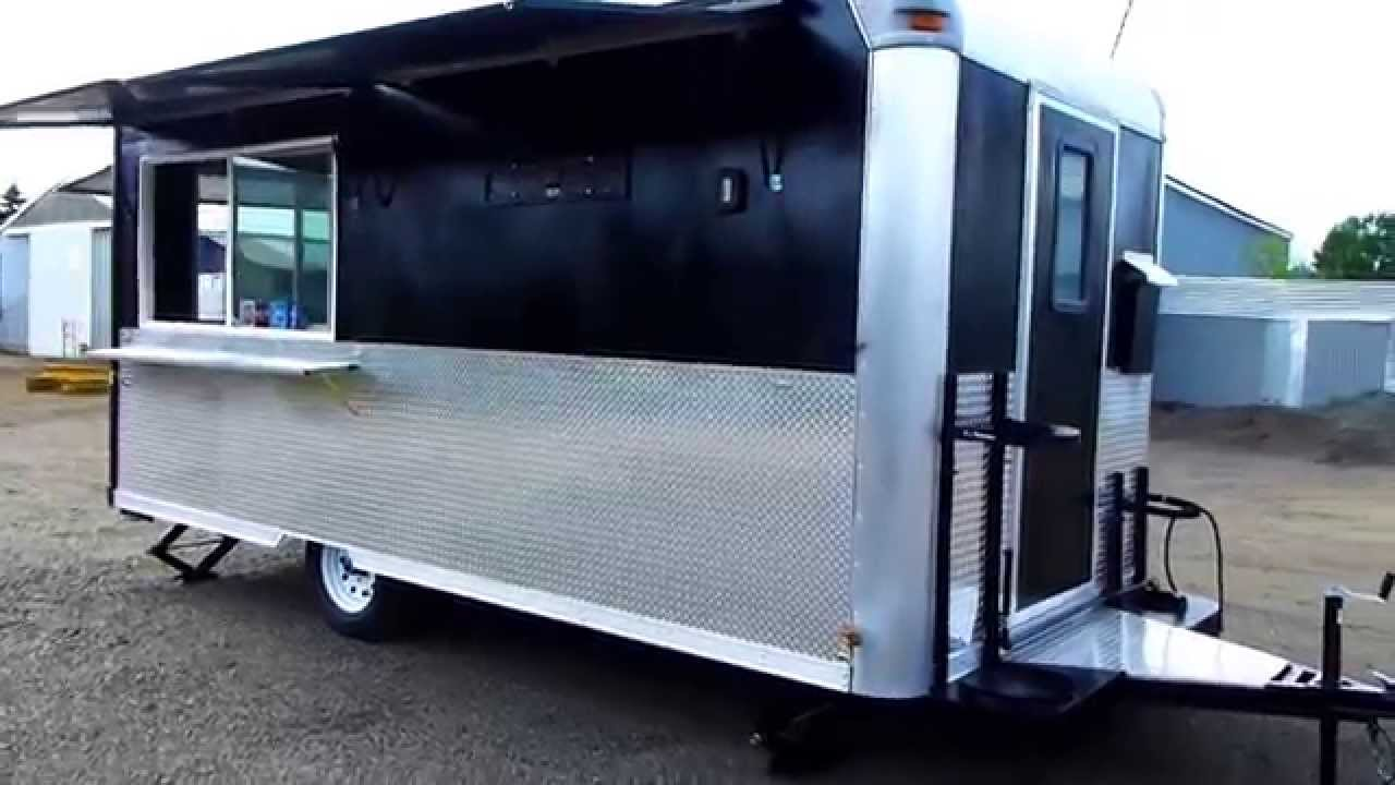 Black Food Trailer 8x16 New Kitchen Youtube