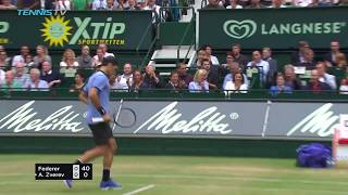 Roger Federer beats Zverev to win ninth Halle title | Gerry Weber Open Halle 2017 Final Highlights