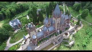 Schloss Drachenburg- Königswinter-Drachenfels Kopter in Bonn Dronepicture Germany 4K