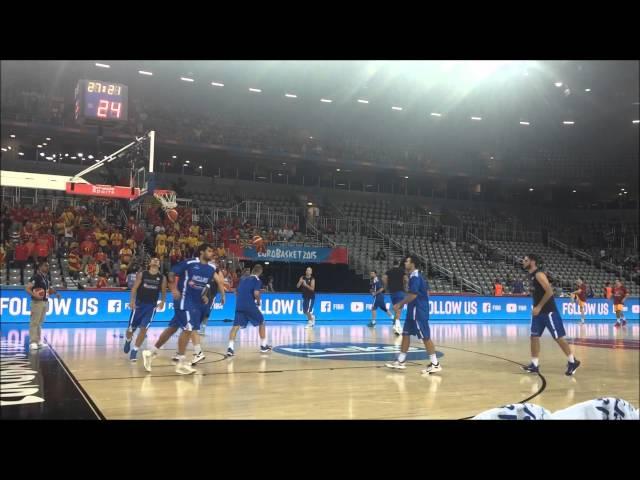 EOK | Εθνική Ανδρών Video : 🏀 Προθέρμανση πριν από την πρεμιέρα του Ευρωμπάσκετ