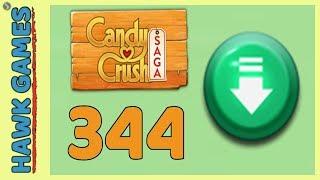 Candy Crush Saga Level 344 (Ingredients level) - 3 Stars Walkthrough, No Boosters