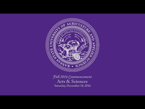 K-State Commencement - Fall 2016 | Arts & Sciences