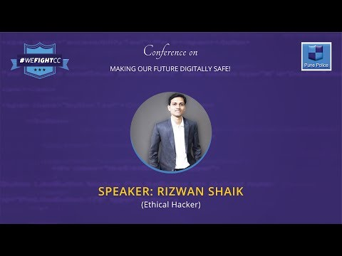 Mr Rizwan Shaikh who is an Ethical Hacker at #WeFightCC conference.