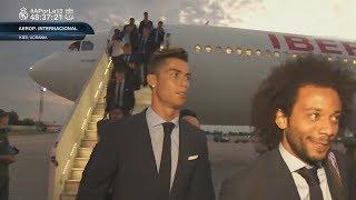 Llegada del REAL MADRID al AEROPUERTO de Kiev FINAL CHAMPIONS (24/05/2018)