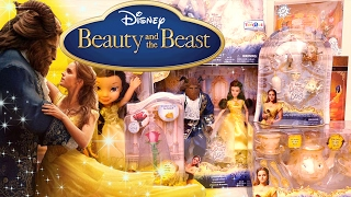 Beauty & the Beast Live Action ! Toys and Dolls Fun Opening Playsets from the Movie | SWTAD