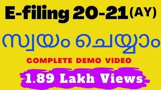 Income tax e-filing 2020-21, Live Demo, Malayalam, Incometaxefiling, ITR1, Incometax, Return filing,