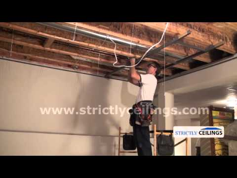 Installing A Dropped Suspended Ceiling Vinyl Vs Metal