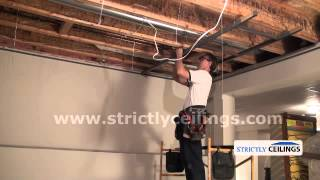 installing a dropped suspended ceiling vinyl vs metal grid