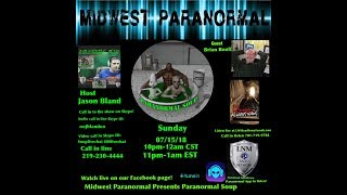 Paranormal Soup ep 144 guest Brian Rouff