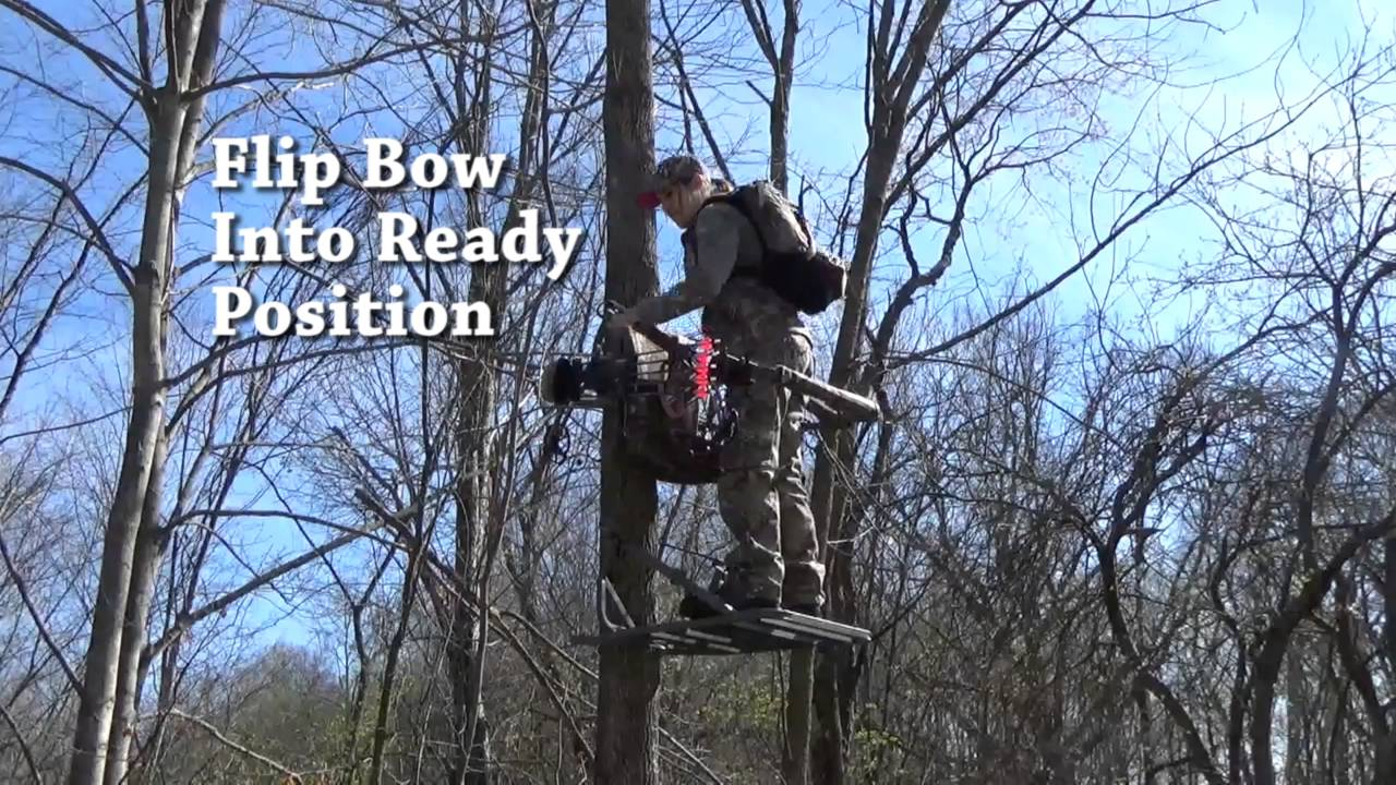 Bow Holder Video With Climbing Treestand
