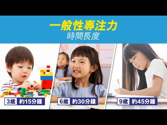 兒童的專注力時間?