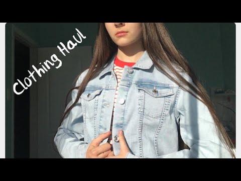 Spring Clothing Haul | Abercrombie, H&M, Abercrombie kids | Filming in my Backyard | Valeriia12