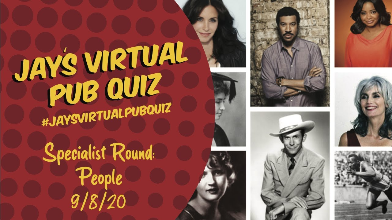 Virtual Pub Quiz, Specialist Quiz: People