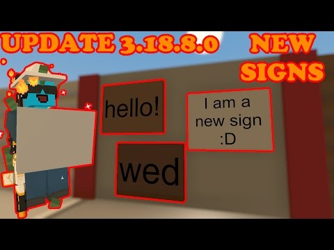 Unturned - Update 3.18.8.0 - New signs that you can place on walls!