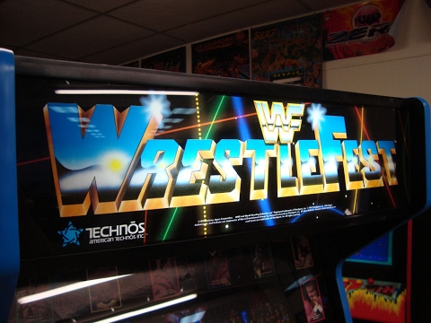 WWF WWE Wrestlefest Arcade Game - 3 Player Cabinet... Gameplay, Artwork Overview