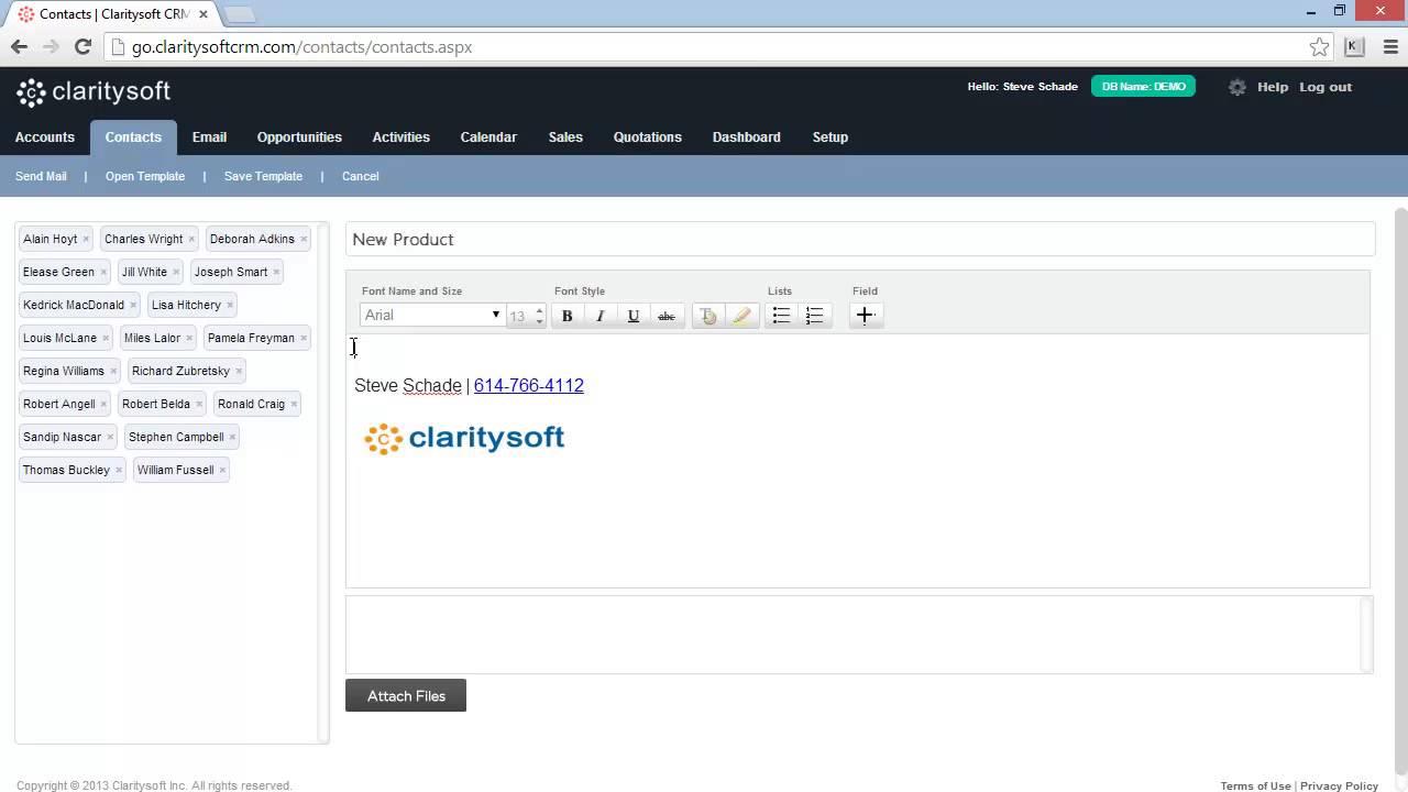 Claritysoft CRM Email Blast - www.claritysoft.com - YouTube