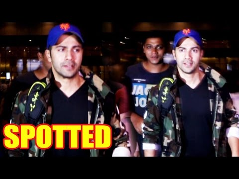 Varun Dhawan Arrives To Mumbai, Here's How Fans And Paparazzi Reacted!