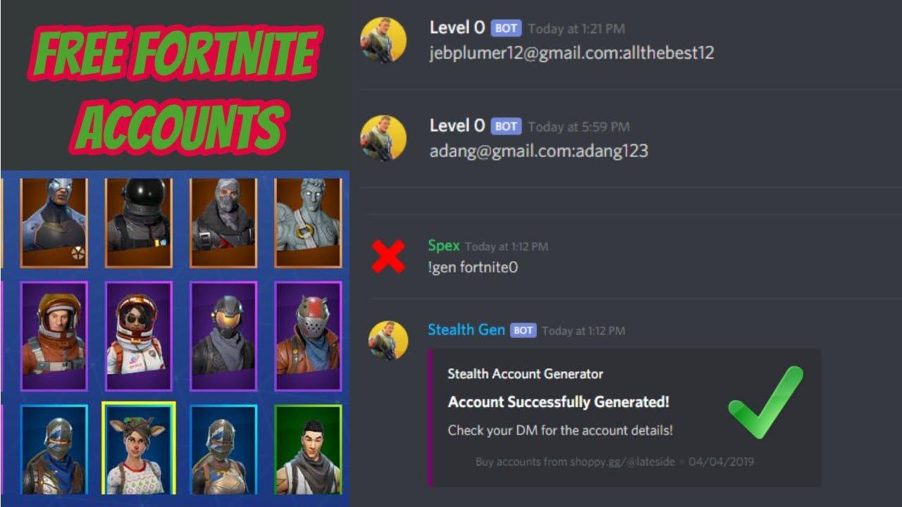 Free Fortnite Account Generator On Discord Youtube