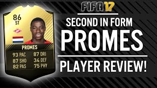 SECOND IN FORM STRIKER QUINCY PROMES (86) PLAYER REVIEW! | FIFA 17 ULTIMATE TEAM(, 2017-04-19T19:32:57.000Z)