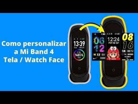 Xiaomi Mi Band 4 como personalizar - Custom Watch Face Mi band 4