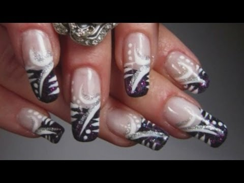 Super Fast And Easy Abstract Design Nail Art Tutorial Youtube