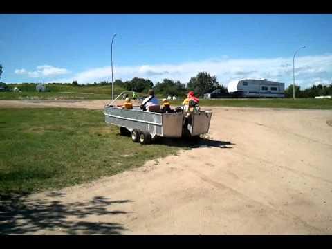 Home built amphibious boat - YouTube