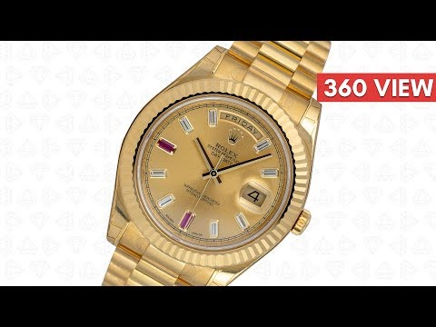 Rolex Day-Date 41 18ct Yellow Gold Champagne/Diamond Dial 218238 - Time4Diamonds