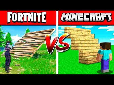 MINECRAFT vs FORTNITE: BUILDING! thumbnail