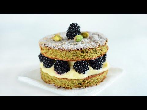 Blackberry Lemon Cake with Chocolate Cream and Pistachio Dacquoise