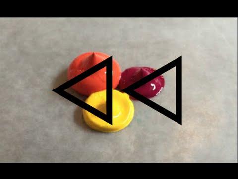 REVERSE Acrylic Paint Colour Mixing   #2 (RED ORANGE)   YouTube