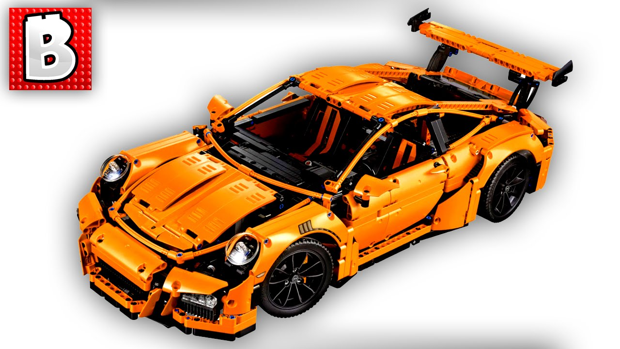 lego technic porsche 911 gt3 rs set 42056 unbox build. Black Bedroom Furniture Sets. Home Design Ideas