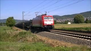 Viel los an der Main Necker Bahn-der Bahnverkehr in Heddesheim