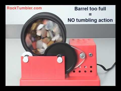 Rock Tumblers How Much Rock To Tumble Youtube