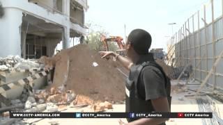Inside ruined Jazeera Palace Hotel in Mogadishu