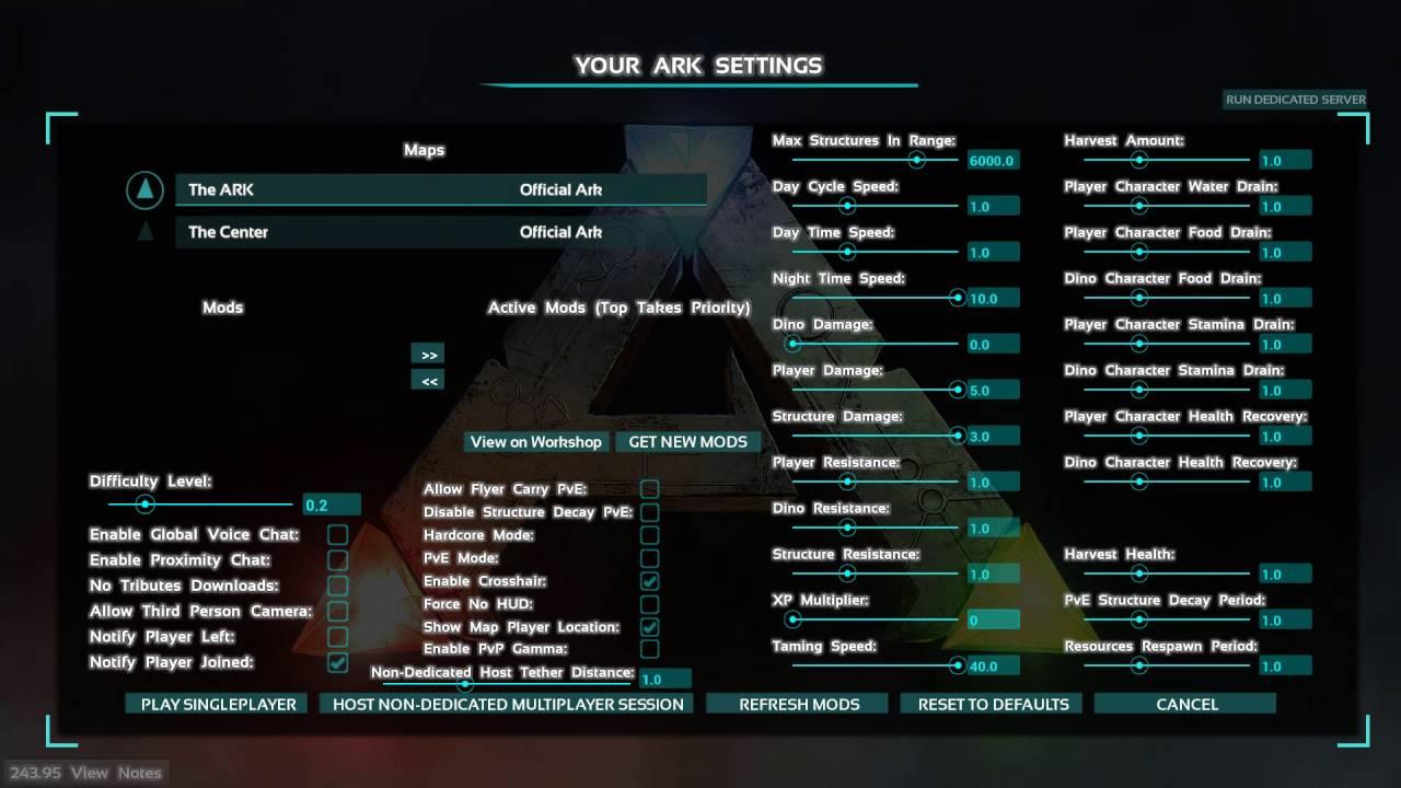 How To Change XP Multiplier In ARK Survival Evolved