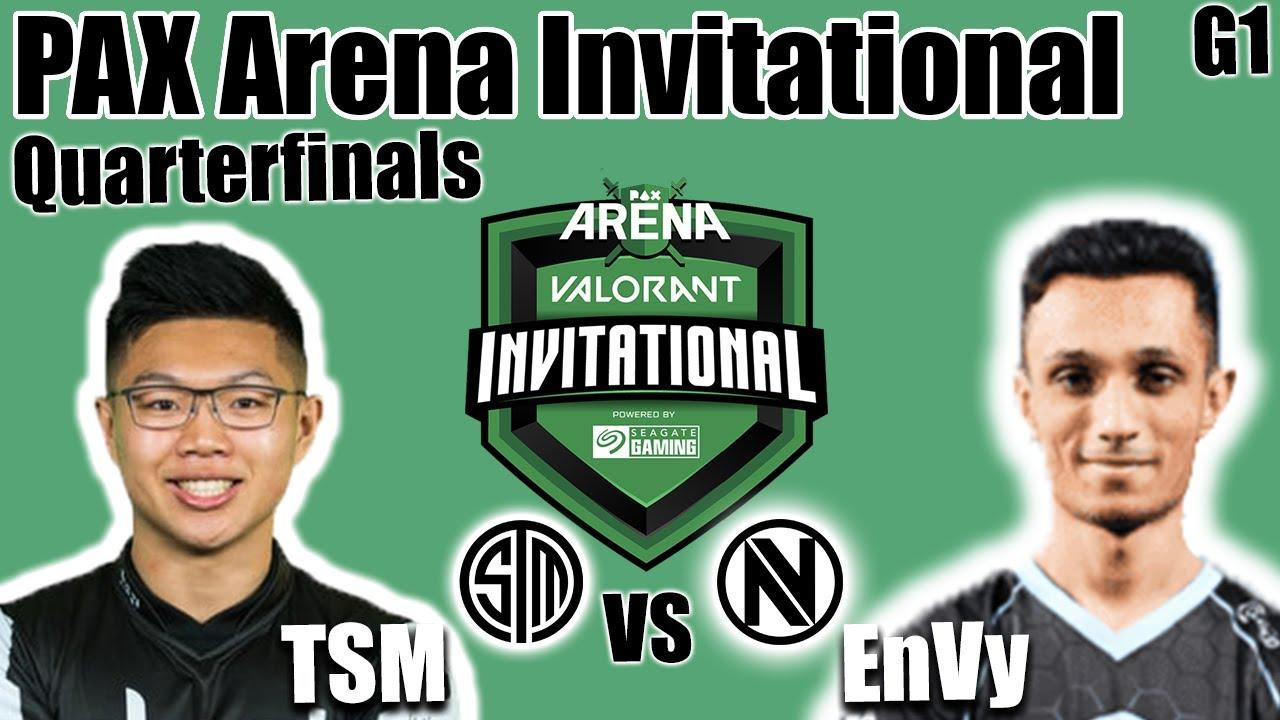 TSM vs Envy Game 1 - Quarterfinals | PAX Arena Valorant Invitational |  Valorant Ignition Series - YouTube