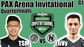TSM vs Envy Game 1 - Quarterfinals | PAX Arena Valorant Invitational | Valorant Ignition Series