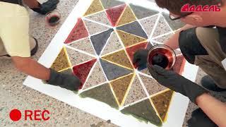 Восстановление топпинговых полов - тонирование бетона
