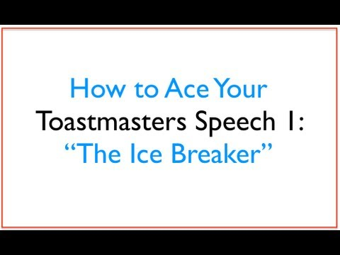 example of an ice breaker speech Groom speech material - humorous icebreaker welcome to our wedding breakfast i hope you're all enjoying yourselves on this special day.
